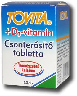 tablettákban előállított készítmények csontritkulás kezelésére